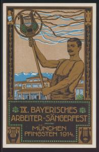 Bayern Privatganzsache München Arbeieter Sängerfest Künstler PP 27 C 123 01