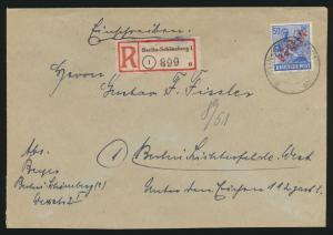 Berlin Schwarzaufdruck R Brief EF 30 Schöneberg n. Lichterfelde