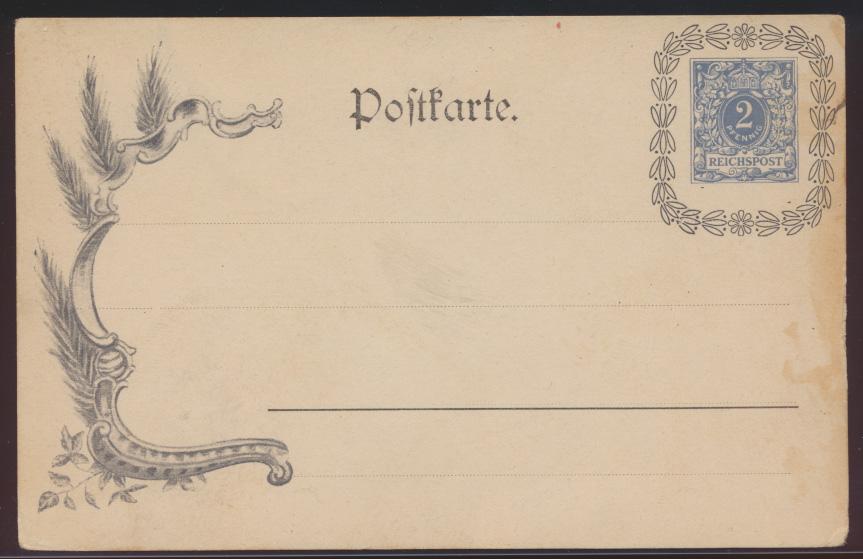 Deutsches Reich Privatganzsache PP 7 E1 02 Krone Ziffer Lorbeerkranz Reichspost  0