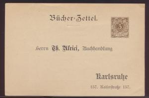 D. Reich Mode Privatganzsache PP8 B13023 Bücherzettel Reklame Alrici Karlsruhe