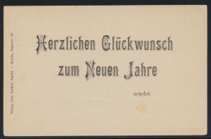 D. Reich Neujahr Privatganzsache PP 7C2101 Verlag Otto Seiffert Berlin Jägerstr.