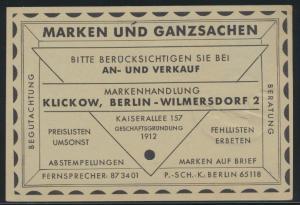 D. Reich Motiv Katze Tiere Ganzsache wie PP 7 Reklame Klickow Philatelie Berlin
