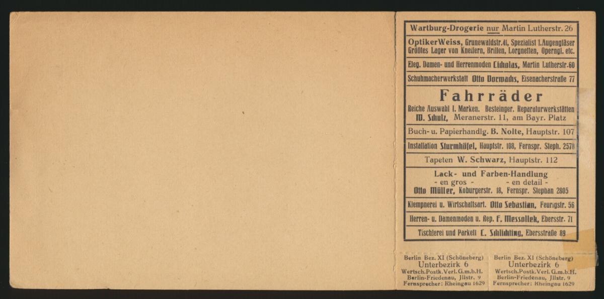 Reich Privatganzsache PP 51 G1 015 Wertgutschein Reklame Germania kpl mit Coupon 1