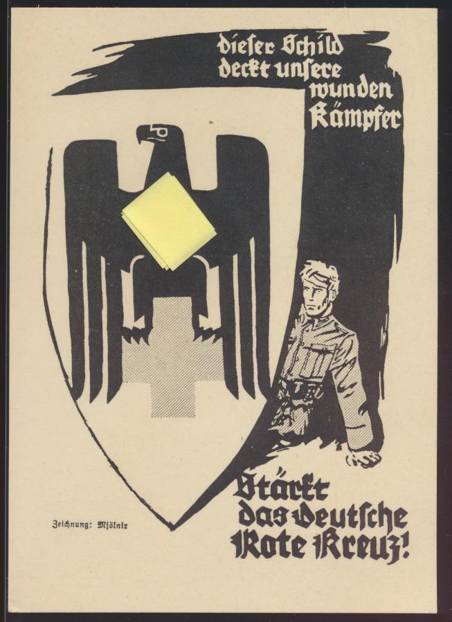 Propaganda Reich Privatganzsache PP 127C52 Rotes Kreuz KDF Ausstellung Künstler  0