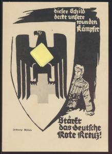 Propaganda Reich Privatganzsache PP 127C52 Rotes Kreuz KDF Ausstellung Künstler