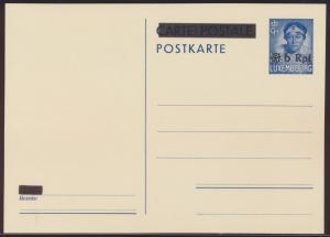 Besetzung 2. Weltkrieg Luxemburg Aufdruck 6 Reichspfennig a 35 Pfg blau Herzogin