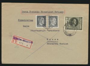 Besetzung Dienstpost Ostland Reich R Brief Not R-Zettel Dresden Wachwitz Kauen