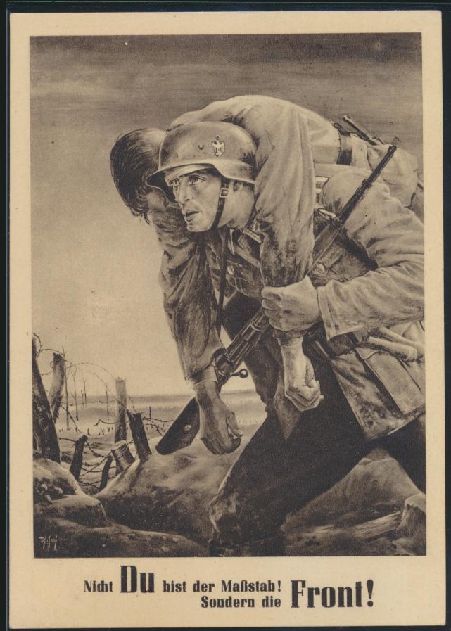 Militaria Generalgouvernement 2 Weltkrieg NSDAP Ansichtskarte Soldaten Front  0