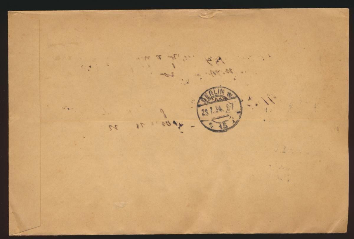 D. Reich R Brief MIF Flugpost Adler Nothilfe Kolonialforscher Borna Berlin 1