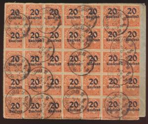Reich Dienst Brief MEF 40mal Nr. 90 Ortsbrief Würzburg verschobener Aufdruck
