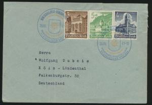 D. Reich Brief MIF 3-Farben Frankatur  WHW mit SST Prag Briefmarkenausstellung