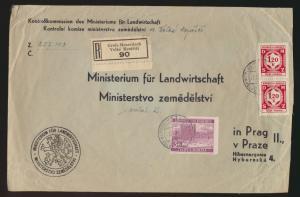 Besetzung Böhmen & Mähren R Brief Groß Meseritsch nach Prag