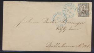 Hamburg Brief EF 10 selt blauer Stadtpostexpedition ST.P.E.I. + 700,00 + ST.P.