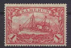 Kolonien Kamerun 24 B 1 Mark Kaiseryacht ungebraucht Kat.-Wert 17,00