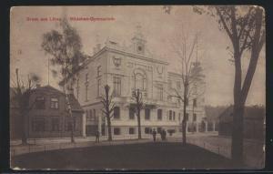 Ansichtskarte Libau Liepāja Lettland Mädchen Gymnasium Felpost n Eberswalde 1916