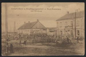 Militaria Ansichtskarte Novo Svenziany Dünaberg Lettland Feldpost n. Berlin 1916