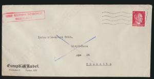 Besetzung Dienstpost Niederlande Reich Amsterdam nach Chemnitz Feldpost 1942