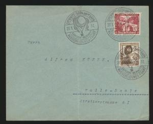 Flugpost airmail Brief 3 x schönen selt. SST Gordon Bennet Chemnitz Südkampfbahn