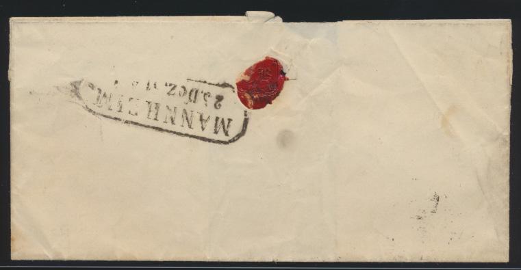 Baden Brief EF 2 R2 Heidelberg und rs. R2 Mannheim 1