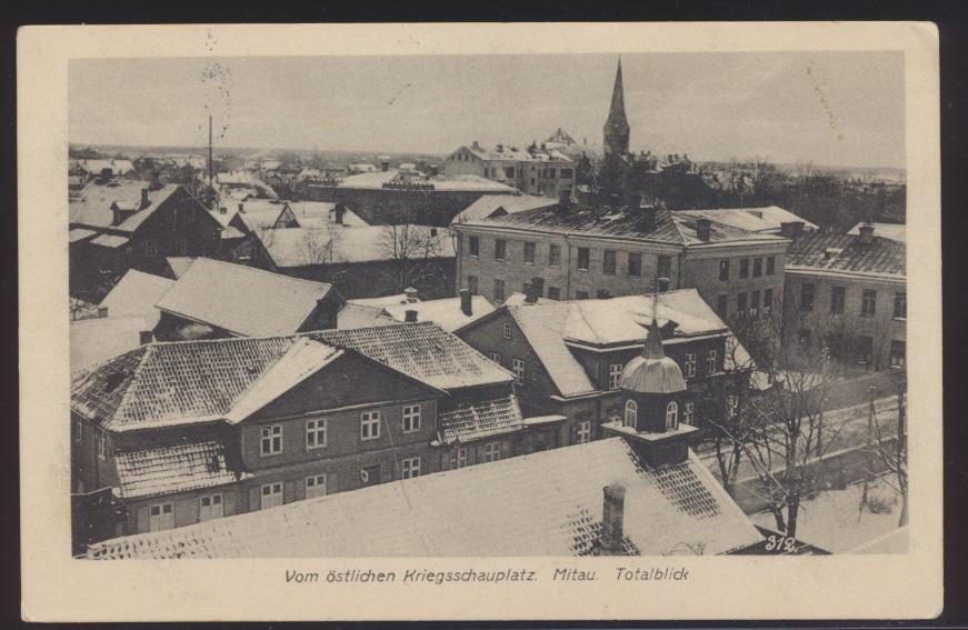 Miltaria Ansichtskarte Mitau Jelgava Stadt Lettland Kurland Ostgebiete Krieg 0