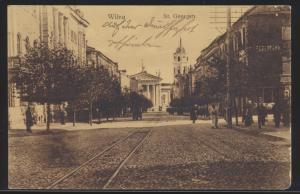Foto Ansichtskarte Wilna Vilnius St. Georgstraße Felpost I. Welkieg Litauen 1916