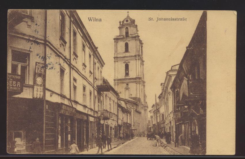 Foto Ansichtskarte Wilna Vilnius Johannisstraße Feldpost I Welkieg Berlin Krieg 0