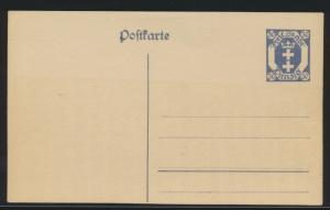 Danzig Ganzsache P 11 30 Pfg. Danziger Wapen ungebraucht