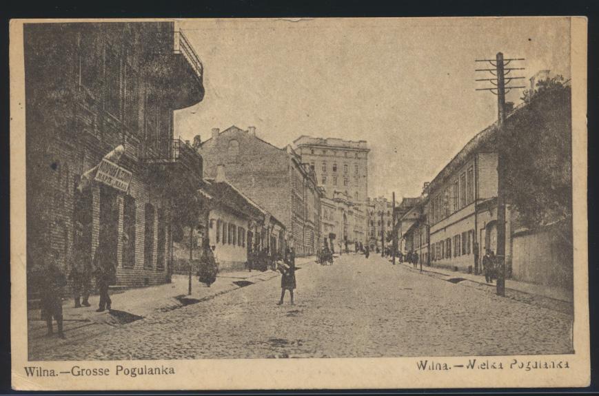 Foto Ansichtskarte Wilna Vilnius Grosse Pogulanka Feldpost I. Weltkrieg n Berlin 0