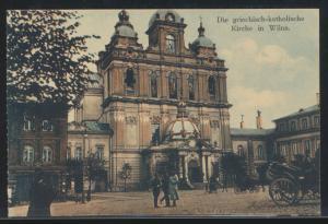 Foto Ansichtskarte Wilna Vilnius Litauen Griechisch Katholische Kirche Passanten