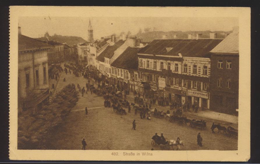 Foto Ansichtskarte Wilna Vilnius Litauen 482 Straße Insterburg n. Logabirum Leer 0