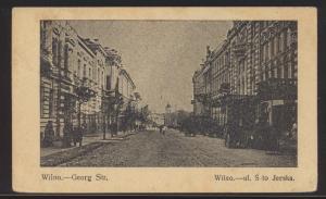 Foto Ansichtskarte Wilna Vilnius Litauen Georg Straße Feldpost ab Insterburg n.
