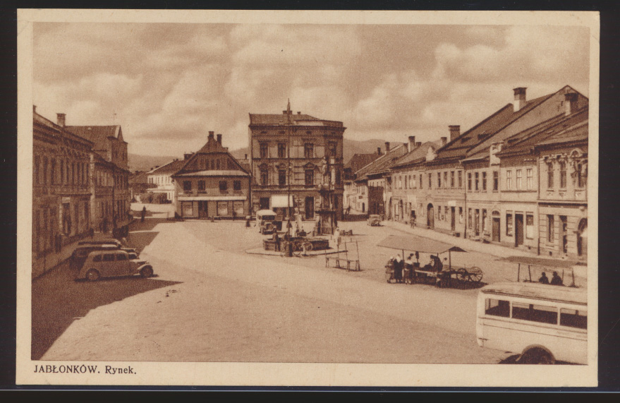 Foto Ansichtskarte Jablonkow Jablunkau Jablunkov Tschechien Auto 0
