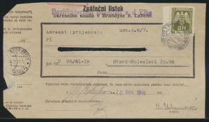 Besetzung Böhmen & Mähren EF Dienst D 22 3 k Bezierksgericht Brandeis Elbe