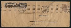 D. Reich Privatganzsache Steifband 3 Pfg. Germania Kaufhaus des Westens Berlin