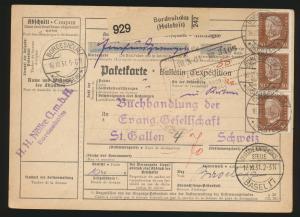 Reich Brief Präsidenten Bordesholm St Gallen Schweiz Dt. Kartierungsstelle Basel
