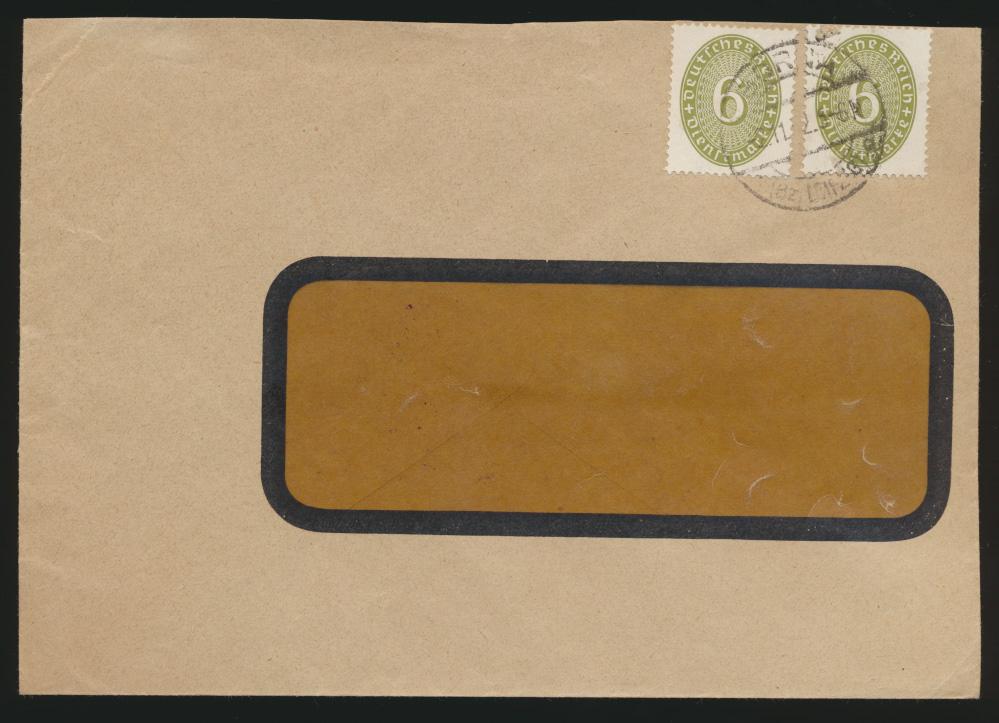 Deutsches Reich Dienst Brief MEF D 128 Borna 2.11.1932 0