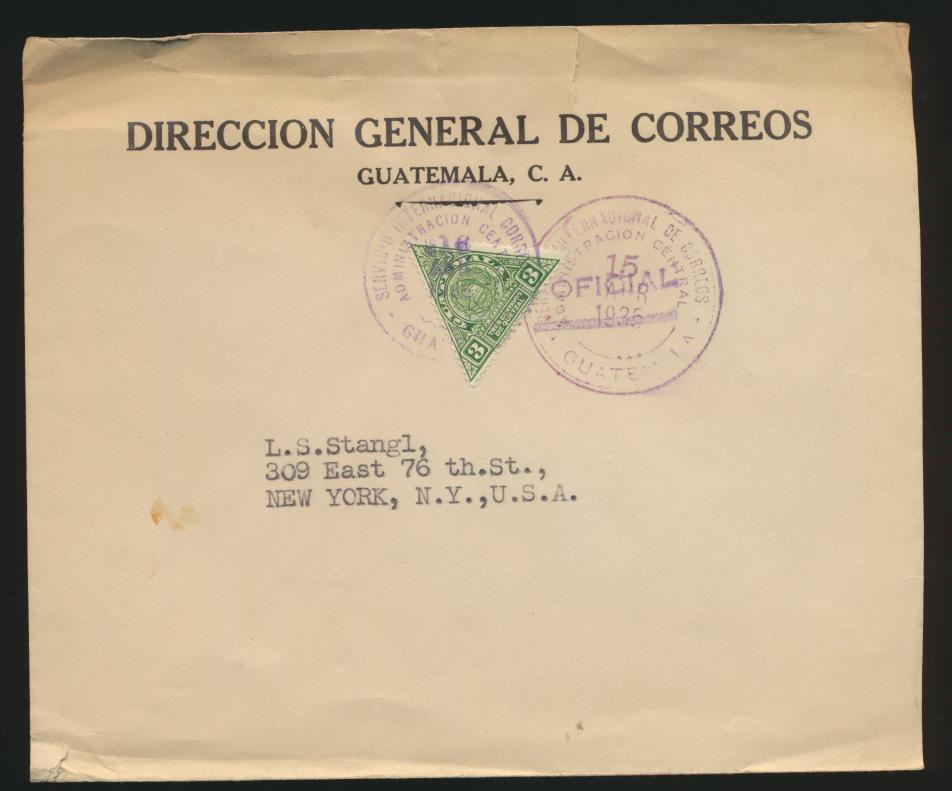 Südamerika Guatemala Brief EF UPU 1926 nach New York  0