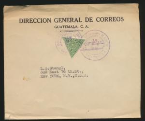 Südamerika Guatemala Brief EF UPU 1926 nach New York