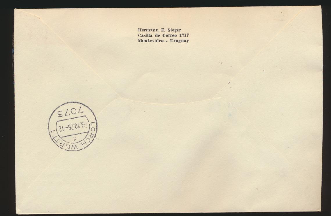 Uruguay Eilboten R Brief Weltraum Block Uruguay courier R letter space block 1