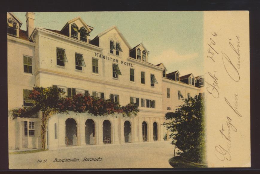 Bermuda Foto Ansichtskarte Bouganvilla Hamilton Hotel New York USA  0