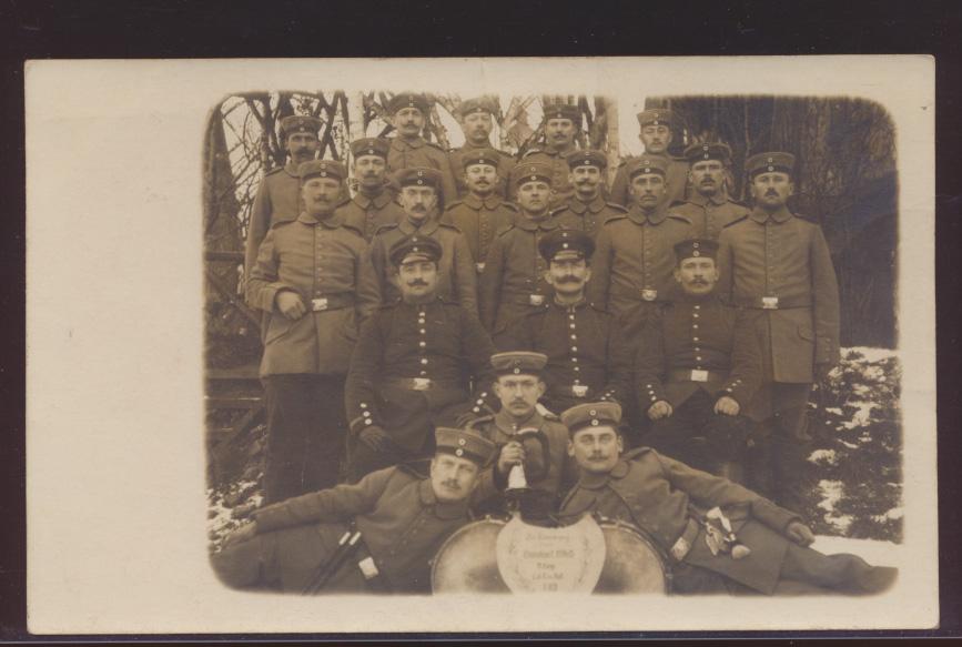 Militaria Foto Ansichtskarte Soldaten Feldpost Stempel Groß-Gerau Hessen  0