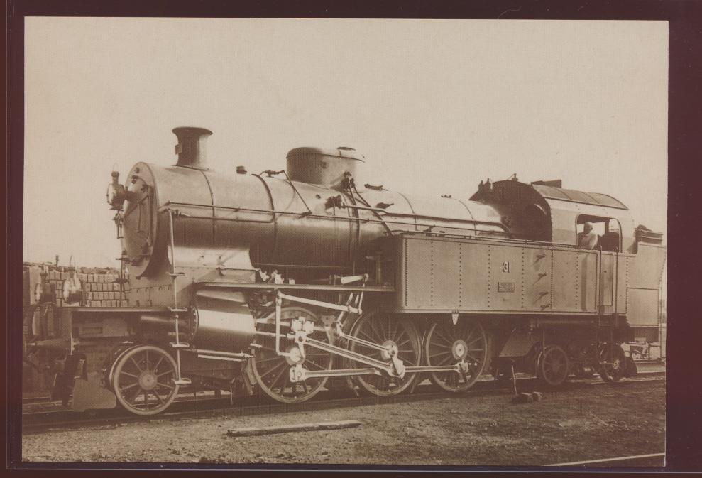 Eisenbahn Foto Ansichtskarte Ea 3-6 Nr 31 Schnellzulokomotive Bern Neuenburgbahn 0