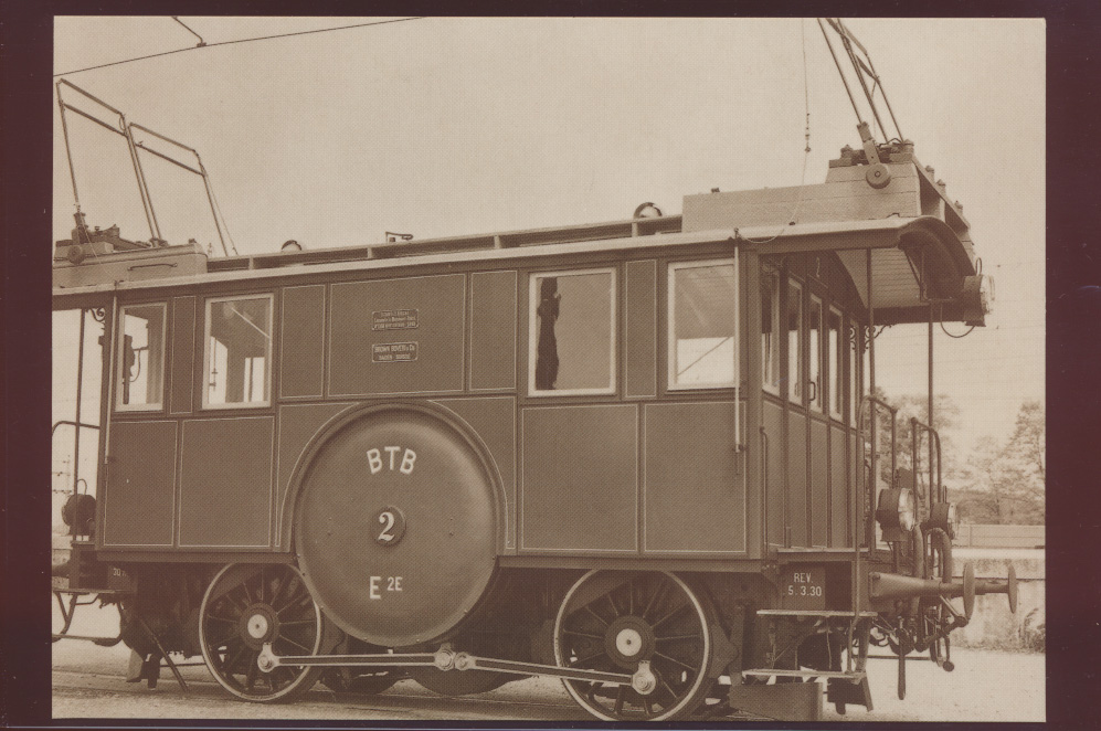Eisenbahn Foto Ansichtskarte De 2-2 Nr. 2 Drehstromlokomotive Burgdorf Thunbahn  0