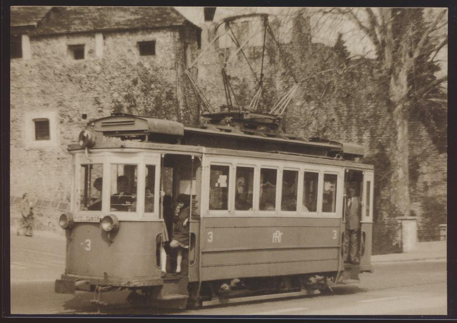 Eisenbahn Foto Ansichtskarte Trambahn Locarno TLo Motorwagen Ce 2-2 Nr. 3 0