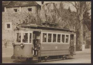 Eisenbahn Foto Ansichtskarte Trambahn Locarno TLo Motorwagen Ce 2-2 Nr. 3