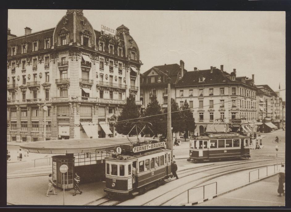 Eisenbahn Foto Ansichtskarte Tram Straßenbahn Motorwagen CE 2-2 12 + Ce 2-2 20 0