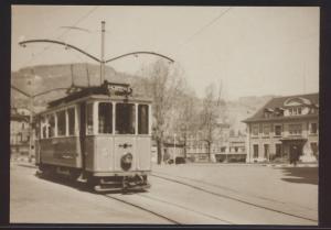 Eisenbahn Foto Ansichtskarte Tram VMCV Wagen Ce 2-2 Nr. 3 um 1950