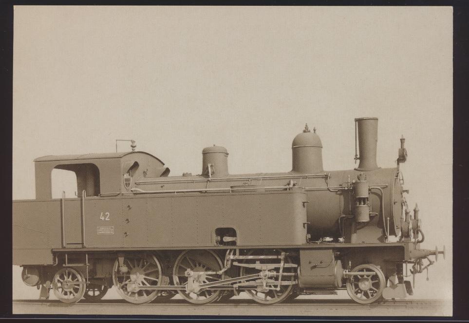 Eisenbahn Foto Ansichtskarte Ec 3-5 Nr. 42 Tenderlokomotive Thunerseebahn TSB 0