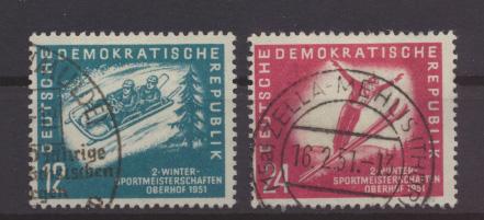DDR 280-281 Wintersportmeisterschaften gestempelt Kat.- Wert 32,00 0