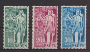 Franz. Zone Baden Revolution 50-52 I Lucus ungebraucht Kat.-Wert 22,00
